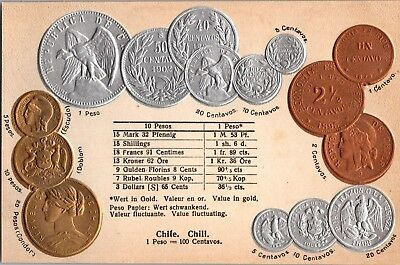 Coin Postcard Made by Walter Erhard Chile Coin Postcard n245