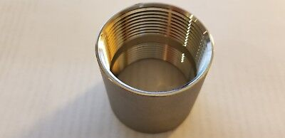 """Stainless Steel 304 Cast Pipe Fitting Coupling 1 1/2"""" NPT, Class 150"""