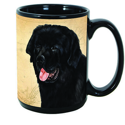 Newfoundland Newfie Faithful Friends Dog Breed 15oz Coffee Mug Cup