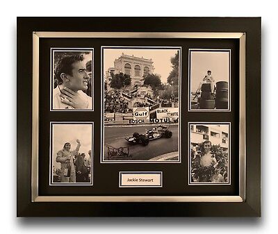 Jackie Stewart Hand Signed Framed Photo Display - Formula 1 Autograph F1.