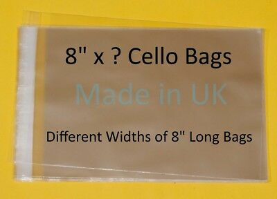"8"" x ? Cellophane Display Bag - Different Lengths Available"