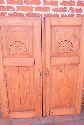 "Pair of antique stripped pine doors 58 5/8H x 25""W"