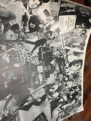 John F Kennedy Collage Poster Vintage Rare