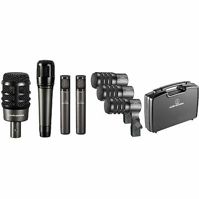 Audio-Technica ATM-DRUM7 Drum Mic Pack w/ Kick, Snare, Toms, Overheads & Case