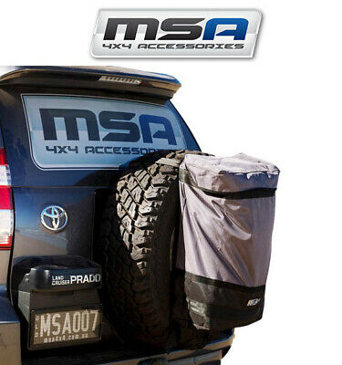MSA Rear Wheel Rubbish Bin Camping Offroad 4X4 4WD Spare Tyre Garbage