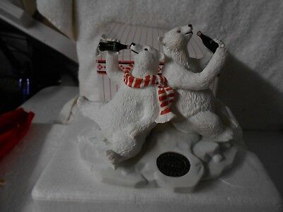 Coca-Cola Polar Bear & Friend Frigurine Heritage Coke Collection, #77013 1996