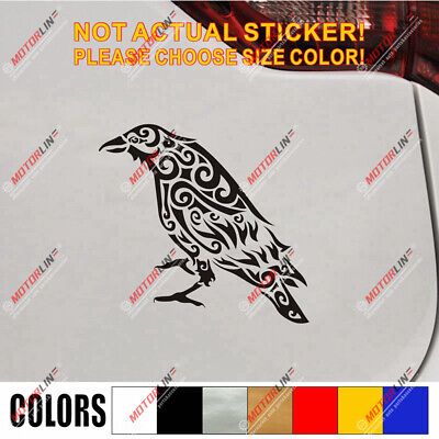 Odin Raven Decal Sticker Viking Norse Nord Norway Car Vinyl Celtic knot c
