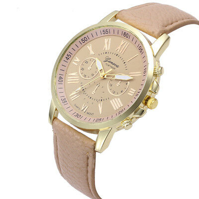 Women's Watches Fashion Roman Numerals Faux Leather Analog Quartz Watch