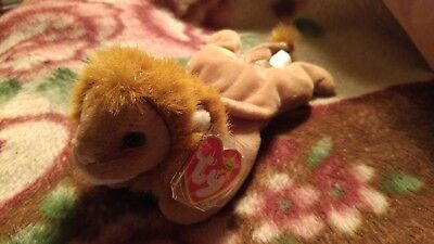 "RARE Retired ""Roary"" Ty Beanie Babies w/MINT tags, 1996 Stamp #4069"
