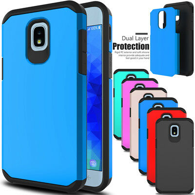For Samsung Galaxy J3V 2018/Orbit/Star/Achieve Shockproof Rubber Hard Case Cover