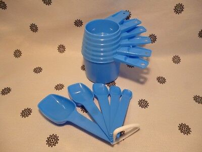Tupperware  Measuring Cups & Spoons Set Blue New