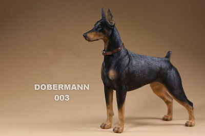 Resin DOG Doberman Pinscher Hand Painted simulation model Figurine Statue Black
