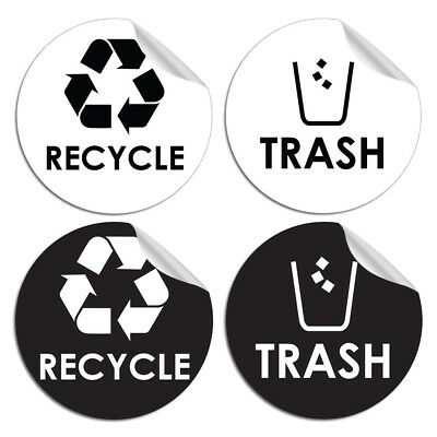 Trash Decal Sticker for trash cans Home /& Office Use Choose Size!