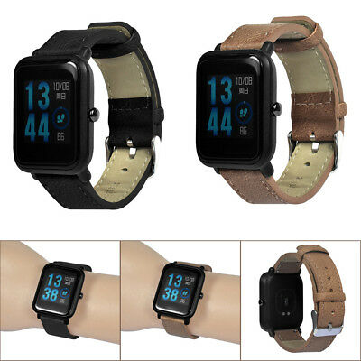 Retro Bracelet Leather Watch Band Strap For Xiaomi Huami Amazfit Bip Youth Watch