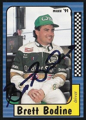 Brett Bodine AUTOGRAPHED SIGNED 1991 MAXX RACING NASCAR TRADING CARD