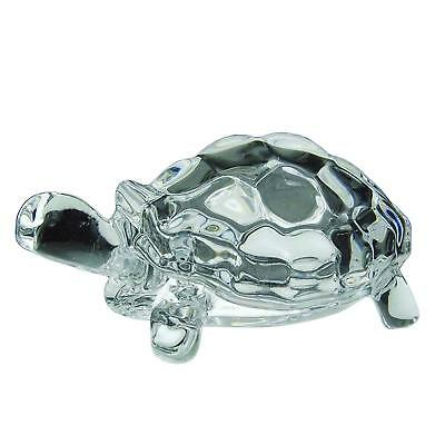 Clear Crystal Tortoise Statue Turtle Shape Feng Shui Reiki Good Luck Gift
