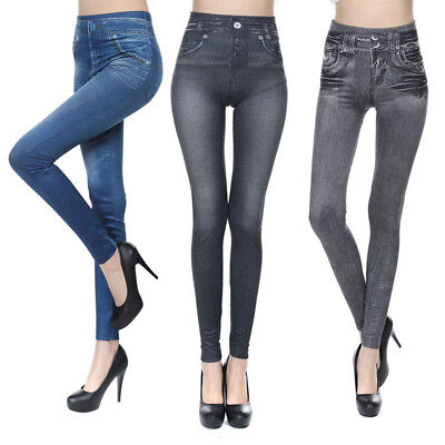 Gn- Women Lady Winter Warm Thickening/thin Pants Slim Denim Trousers Jeans Nice
