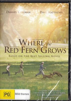 Where The Red Fern Grows - New & Sealed Region 4 Dvd - Free Local Post