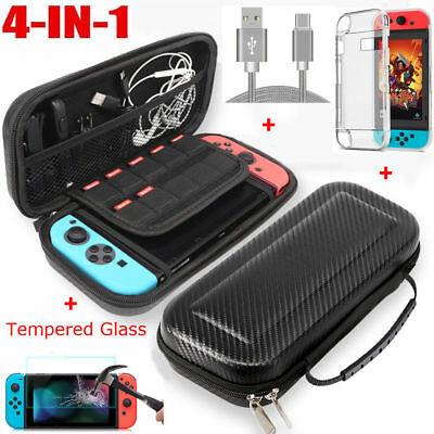 Hard EVA Bag Case,Charging Cable,Protector Film,Cover for Nintendo Switch FR ILO