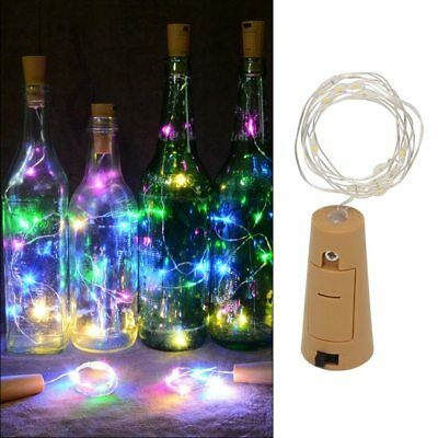1- 6X 10LED Copper Wire Wine Bottle Cork Battery Operated Fairy String Lights BP