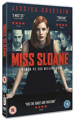 Miss Sloane - Jessica Chastain, Mark Strong, Alison Pill BRAND NEW SEALED R2 DVD