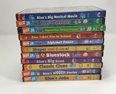 Blue'S Clue'S Dvd'S Lot Of 11-Big Musical Movie - Fred'S Birthday-Beyond Dreams