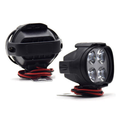 900LM Motorcycle Headlight Spot Lights Head Lamp 4 LEDs Front DC 12V Driving