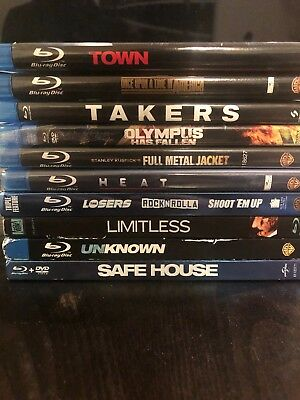 Blu Ray movies lot Bulk (10 Titles) Action