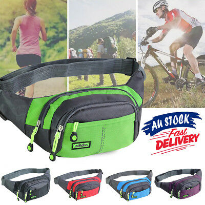 Bum Waist Bag Handy Belt Climbing Hiking Sport Unisex Fanny Pack Zip Pouch