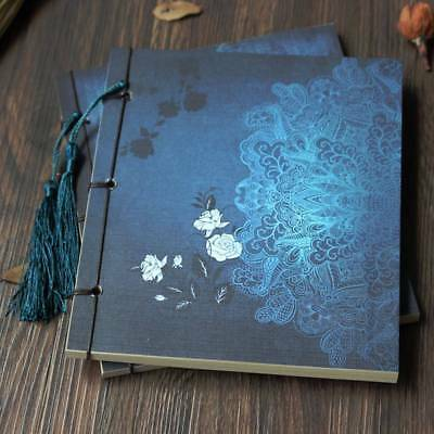 1Pc Chinese Style Notebook Manual Threading Classic Blank Traditional Tassel