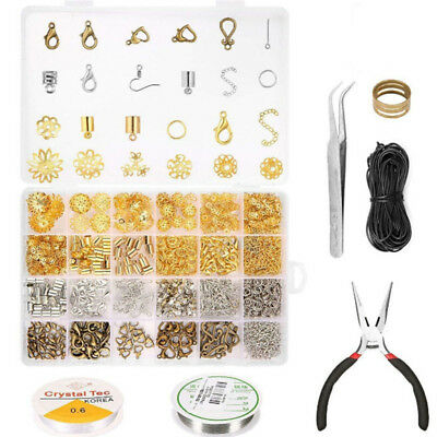 Wire Jewelry Making Starter Kit Sterling Silver Gold Repair Tools Craft Suppli O