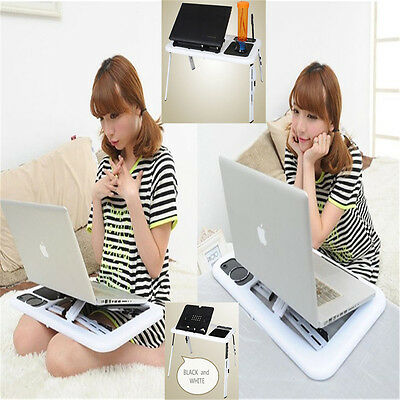 Portable Folding Laptop Adjustable Computer Table Stand Tray For Bed Sofa O6