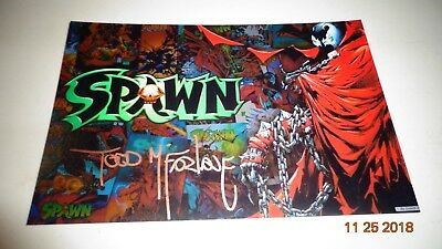 Todd McFarlane Signed Picture Autographed w/ COA Spawn Venom The Next Stan Lee?