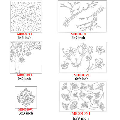Plants Type Plastic Layer Clear Stencil Drawing Sheet Scrapbook Album Embossing