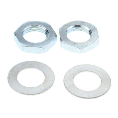 4 Pcs Stainless Steel Roller Skate Toe Stop Lock Nuts and Washers