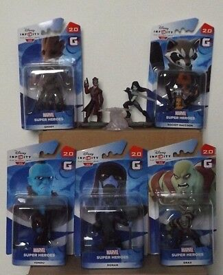 Disney Infinity 2.0 Complete Guardians Of The Galaxy Figures & Playset Crystal.