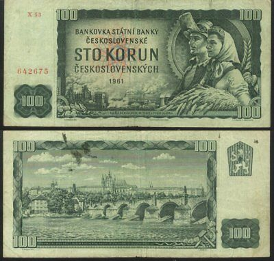 Czechoslovakia - 1961 Banknote 100 Kuron ( FREE S&H for Every Extra Lot )