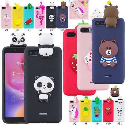 Protective 3D Cartoon TPU Case Gel Phone Cover For Xiaomi Redmi 6A 4X Note 5 Pro