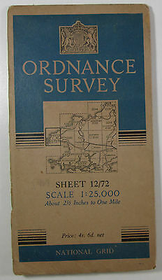 1950 vintage OS Ordnance Survey 1:25000 First Series map SM 72 St David's 12/72