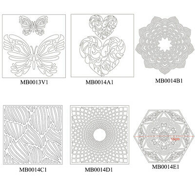Plastic Stencil Drawing Sheet Clear Transparent Scrapbooking Embossing Card DIY