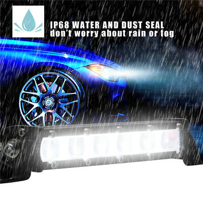 7inch 60W Spot Beam Slim LED Work Light Bar Single Row Car SUV Off road Lamps 8""