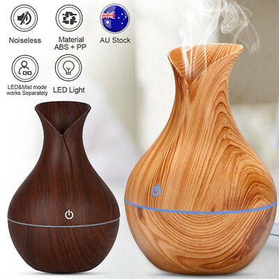 LED Aroma Essential Oil Diffuser Cool Mist Ultrasonic Humidifier Air Purifier AU