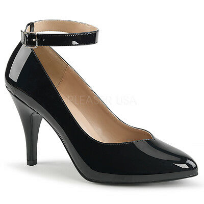 35caa544add2 Scarpe Donna Decoltè Decollete Tacco 10 Vernice Nero Eleganti Pleaser  Dream-431