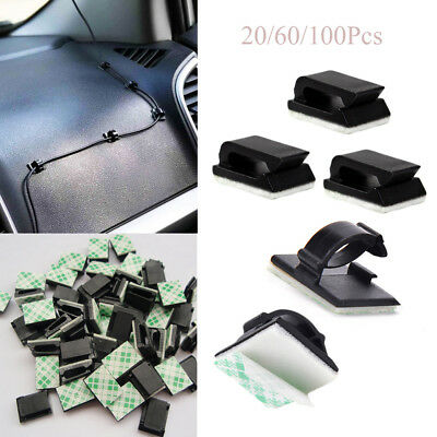 Self-adhesive Plastic Fixer Holder Cable Clip Wire Management Buckle Line