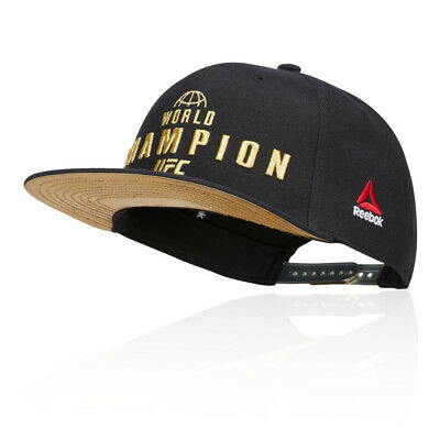 Reebok Unisex UFC Champion Cap Black Sports Gym Outdoors Breathable Lightweight