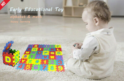 36Pcs Baby Child Number Alphabet Puzzle Foam Maths Early Educational Toy Gift