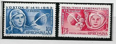 ROMANIA 1963, 2nd Manned Flight,  SG 3028- 3029, Unmounted Mint.