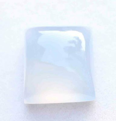 31.20 Cts Natural! Lavender Blue Madagascar Chalcedony Cushion Cabochon