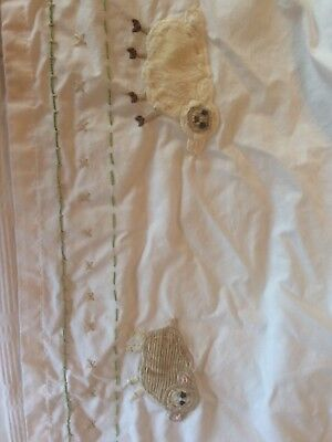 Pottery Barn Kids Nursery Cottontail Bunny Farm Animals Crib Toddler bed skirt