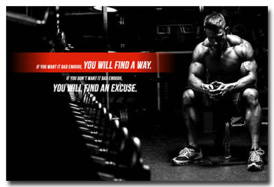 """E2473 Art Motivational GYM Body Building Quotes Exercise Poster Hot Gift 36/"""""""